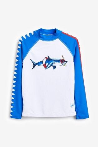 FatFace Shark Sleeve Rashie