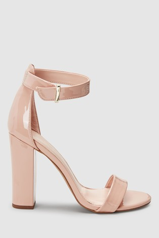 Black Barely There Block High Sandals