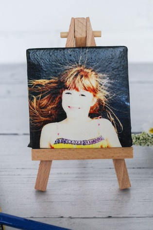 Personalised Photo Upload Photo Canvas With Easel by Instajunction