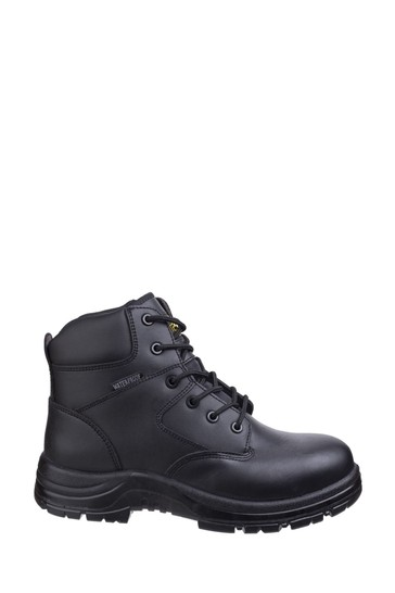 Amblers Safety Black FS006C Waterproof Lace-Up Safety Boots