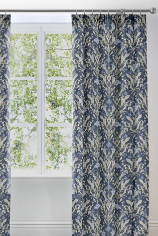 Venito Floral Pencil Pleat Lined Curtains by D&D