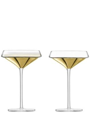Set of 2 LSA International Space Gold Cocktail Glasses