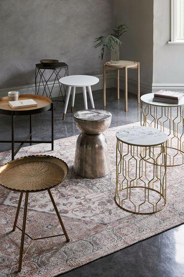 Ella Gold Nest Of 2 Tables