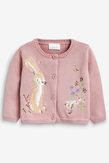 Pink Embroidered Cardigan (0mths-2yrs)