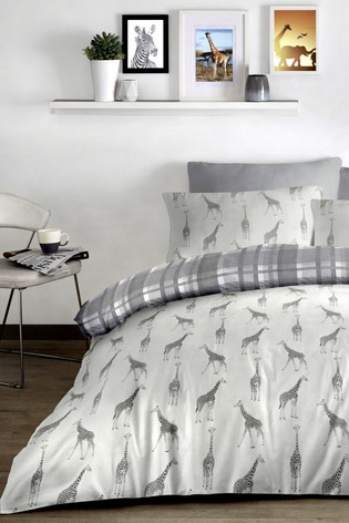 Sahara Giraffe Duvet Cover and Pillowcase Set by Fusion