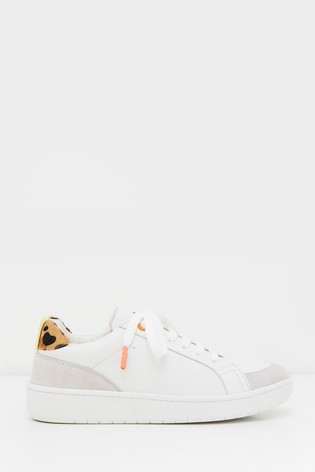 White Stuff Leather Lace Up Trainers