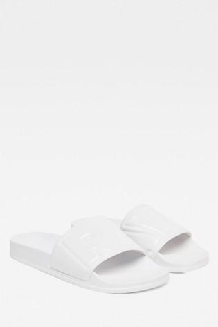 G-Star White Cart Slide II Sandal