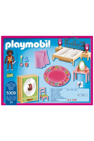 Playmobil® Dollhouse Master Bedroom With Functional Bedside Lights