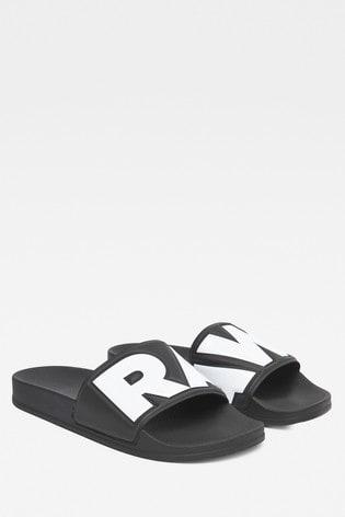 G-Star Black/White Cart Slide II Sandal