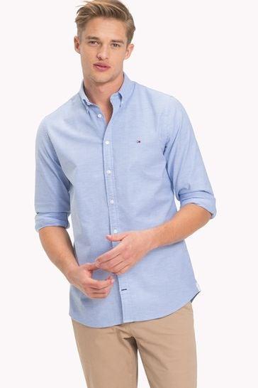 Tommy Hilfiger Blue Slim Oxford Shirt