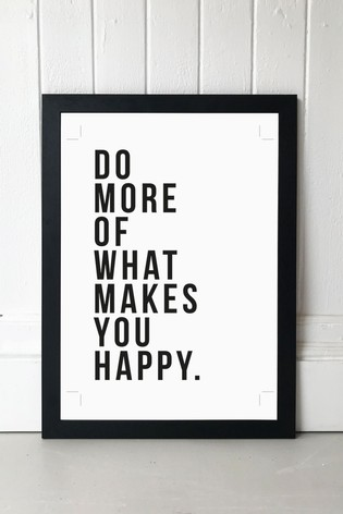 What Makes You Happy by Native State Framed Print