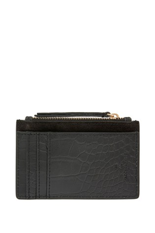 Accessorize Black Croc Leather Shoreditch Bag