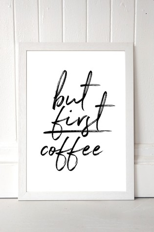 But First Coffee by Rafael Farias Framed Print