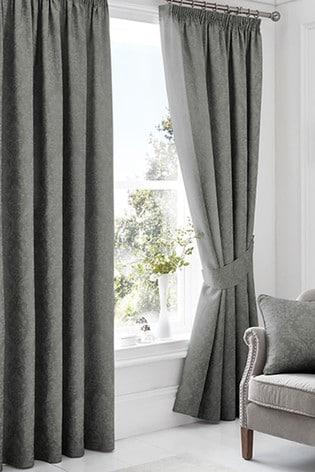 Laurent Pencil Pleat Curtains by Serene