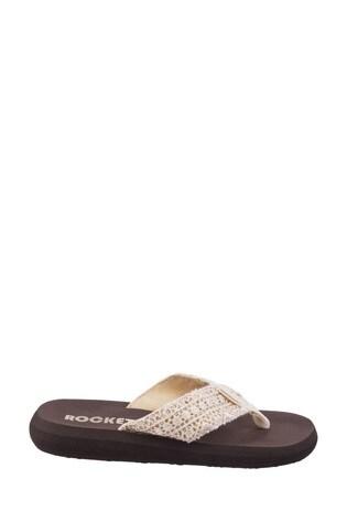 Rocket Dog Cream Spotlight Lima Slip-On Sandals