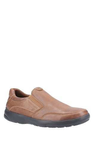 Hush Puppies Brown Aaron Slip-On Shoes