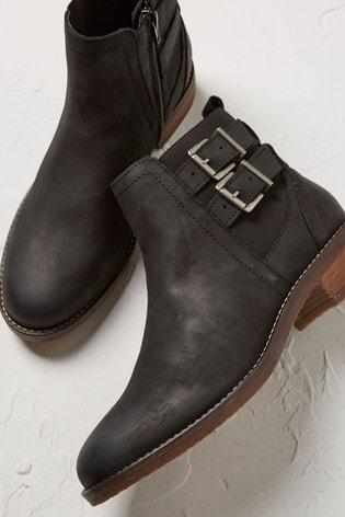 FatFace Black Dalby Strap Chelsea Boots