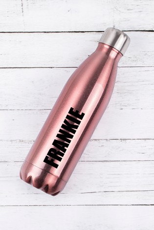 Personalised Rose Gold Water Bottle by Loveabode
