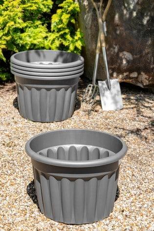 Set of 5 Wham Vista 60cm Plastic Round Planters