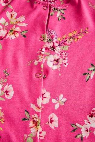 Pink/Purple 3 Pack Floral Sleepsuits (0-2yrs)