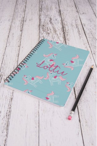 Personalised Unicorn A5 Notepad by Loveabode