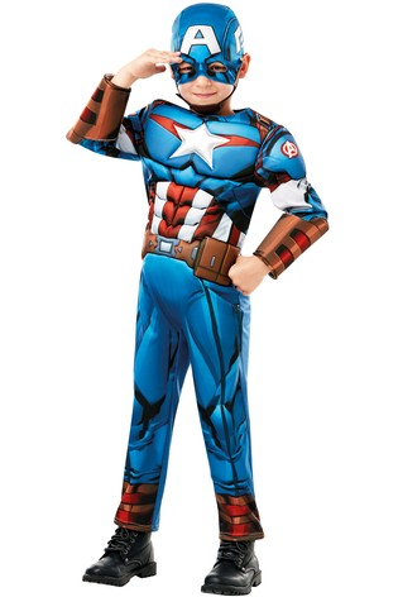 Rubies Avengers Assemble Captain America Fancy Dress Costume