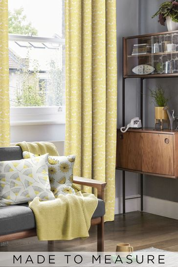 Saplings Sunflower Orange Made To Measure Curtains by MissPrint