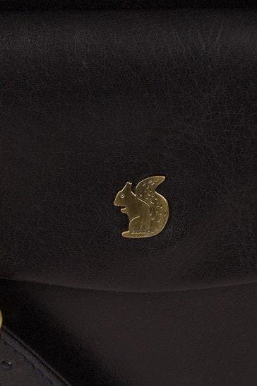 Conkca Dark Navy Lauryn Leather Cross Body Bag