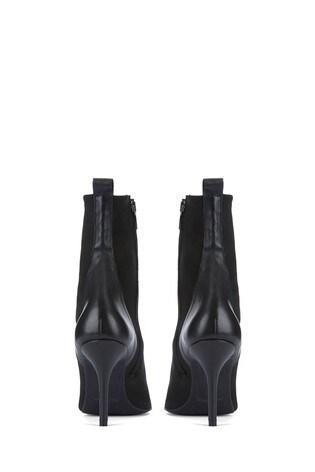 Mint Velvet Black Sian Sock Boots