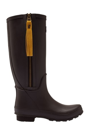 Joules Black Coltte Welly Boots
