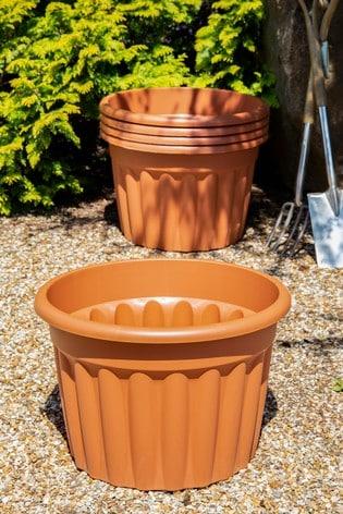 Set of 5 Vista 60cm Round Garden Planters by Wham