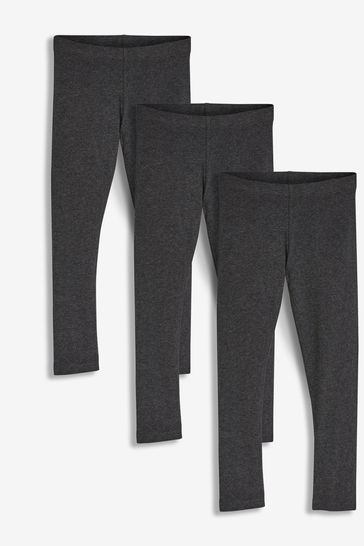 Charcoal 3 Pack Leggings (3-16yrs)