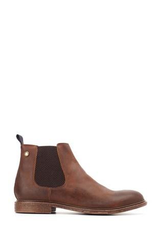 Base London® Tan Flint Softy Pull-On Chelsea Boots
