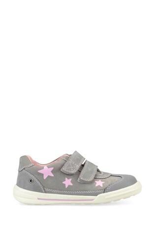 Start-Rite Galaxy Grey Nubuck Pink Stars Shoes