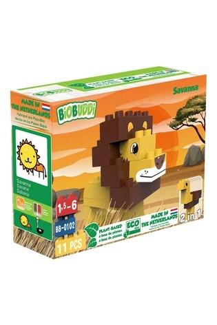 BiOBUDDi Savanna Lion/Ostrich 2-In-1 11 Blocks