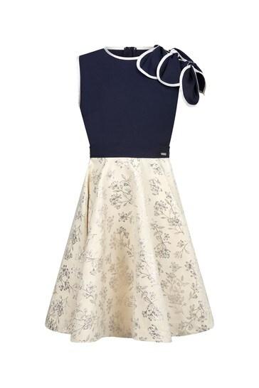 Girls Navy Petal Dress