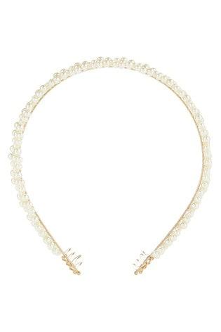 Accessorize Natural Pearl Crown Headband