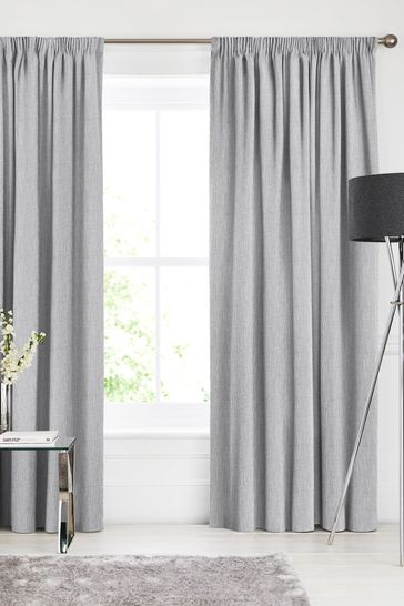 Sayeh Fog Grey Made To Measure Curtains