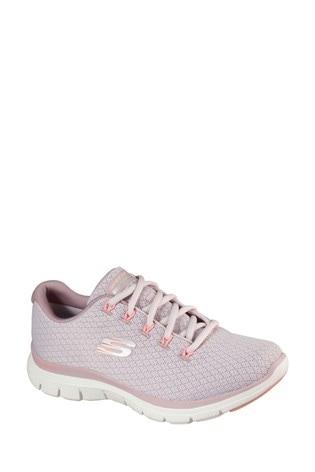 Skechers® Pink Flex Appeal 4.0 Coated Fidelity Trainers
