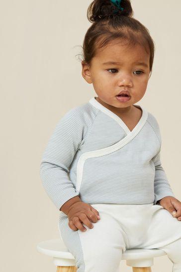 MORI White/Blue Stripe Yoga Pants
