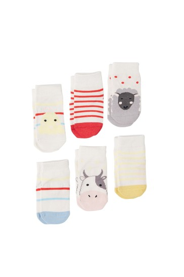 Joules White The Sock Set