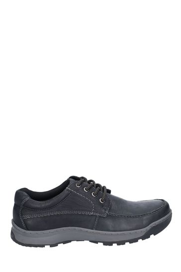 Hush Puppies Black Tucker Lace Shoes