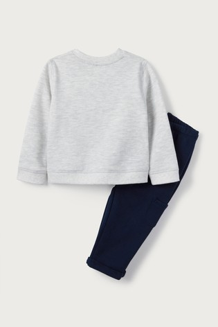 The White Company Grey And Navy Sweatshirt And Joggers Set