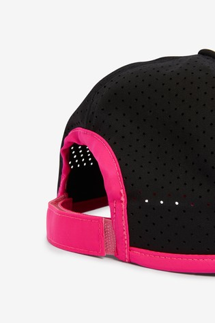 Black and Pink Active Running Cap