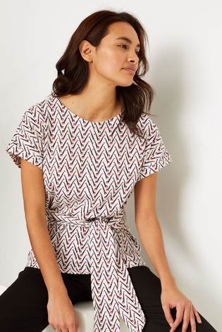 White Stuff Natural Belted Jersey T-Shirt