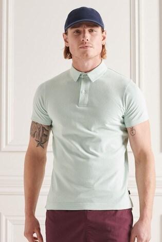 Superdry Studios Green Jersey Polo Shirt