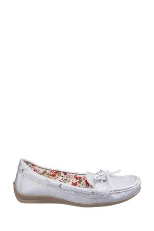 Fleet & Foster Silver Alicante Boat Shoes