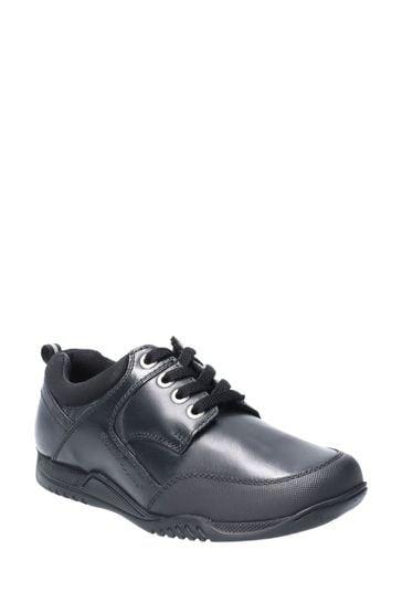 Hush Puppies Black Dexter Senior School Shoes