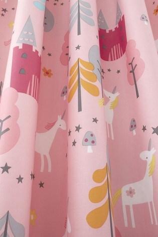 Cosatto Pink Unicornland Pencil Pleat Curtains