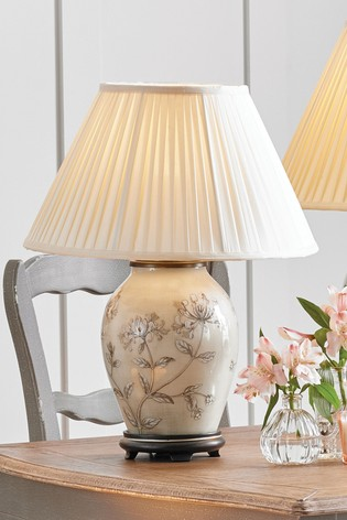 Jenny Worrall Hand Painted Honeysuckle Glass Table Lamp by Pacific